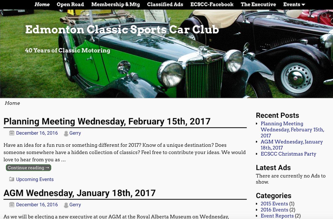 Edmonton Classic Sports Car Club